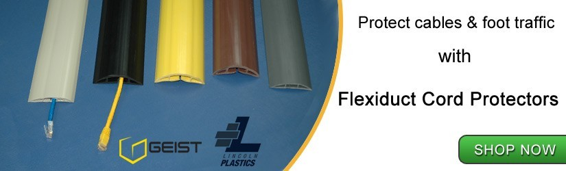 protect cables with Flexiduct Cord Protectors