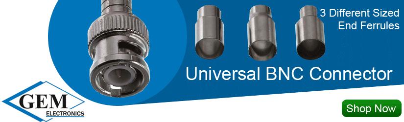 GEM Electronics Universal BNC Connector 301-00