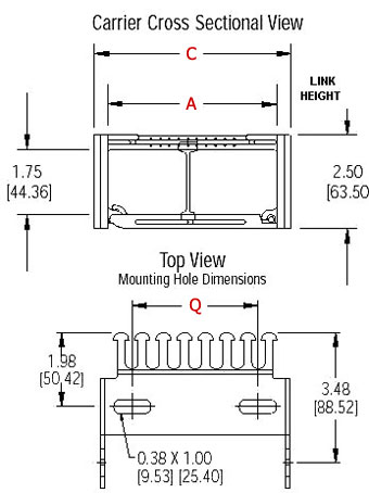 cross section of KL series link