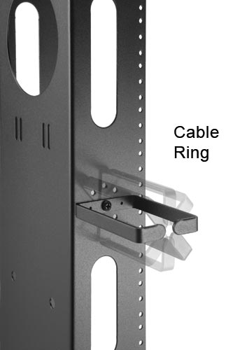 close up of great lakes cmr45u rack cable rings icon
