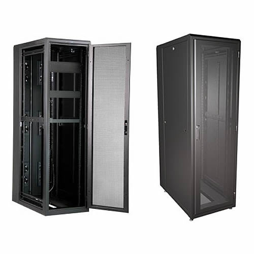 great lakes gl840es-2442 es server enclosure in black, opened and closed icon