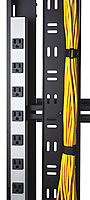 power strips within Enhanced Rack Enclosure