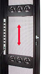Server Rack Enclosure Mash Door with Fans')