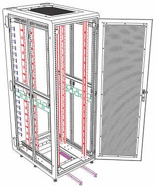 technical drawing of enhanced server enclosure