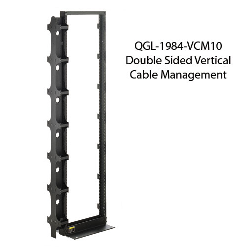 great lakes double sided vertical cable management icon