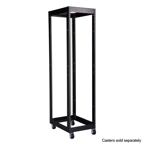 great lakes heavy duty 4 post rack with casters