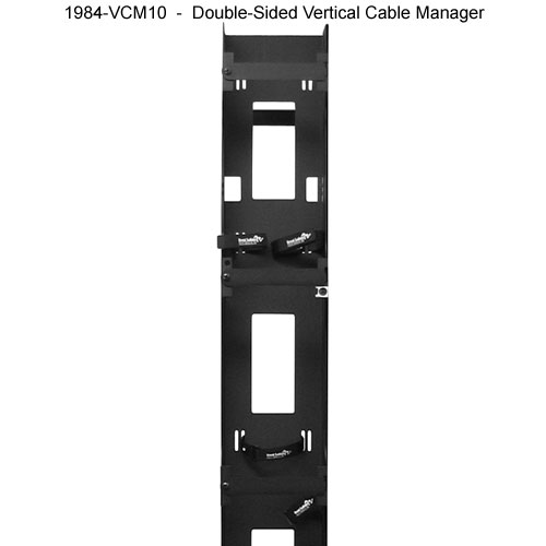 great lakes double sided vertical cable manager icon