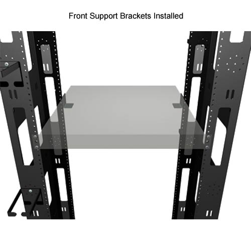 diagram for great lakes four post rack with front support brackets installed icon