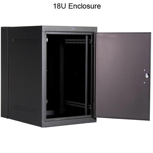 18U deep wall mount enclosure