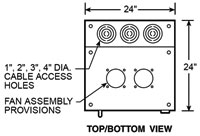 top, bottom view dimensions
