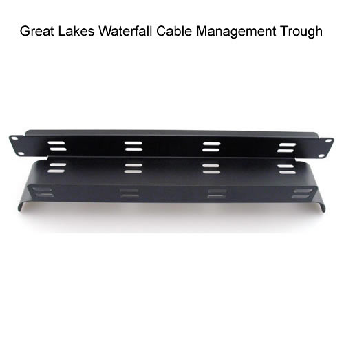 Great Lakes Rack mount waterfall cable organizer - icon