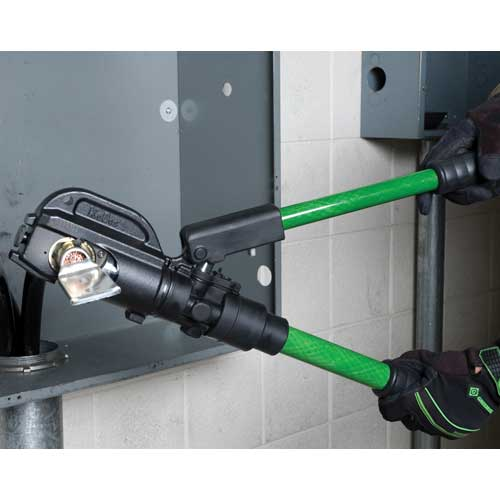greenlee 12 ton hydraulic crimping tool in use icon