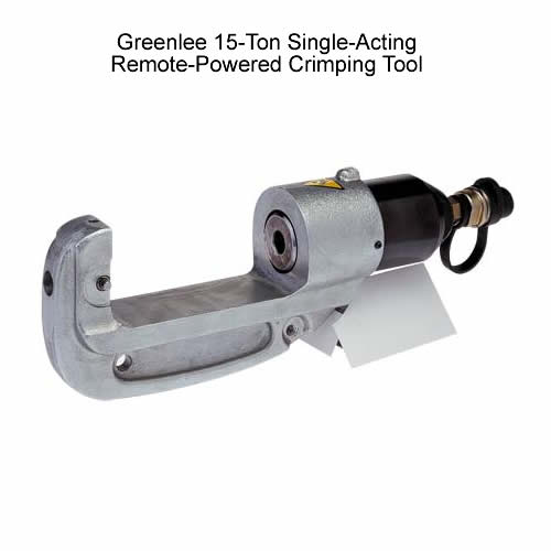 Greenlee 15-Ton Single-Acting Remote-Powered Crimping Tool