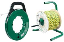 Greenlee fish tape, rope, cable spool holders