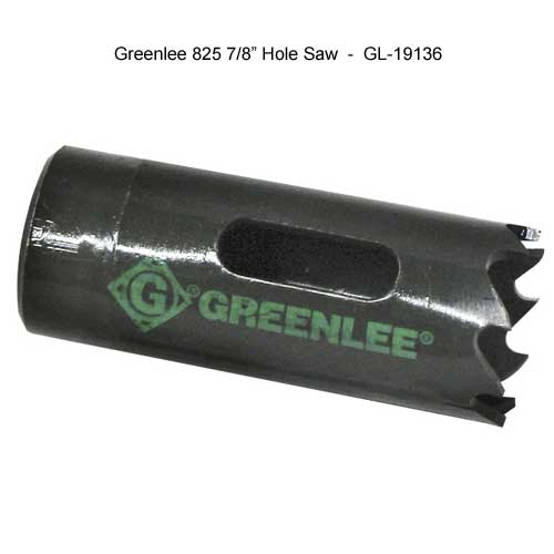 greenlee seventh eights inch hole saw - icon