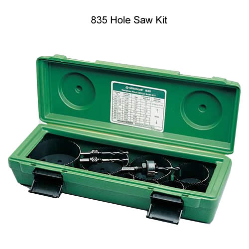 greenlee 835 electrician and plumbers hole saw kit - icon