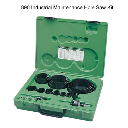 greenlee 890 industrial maintenance hole saw kit - icon
