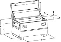 drawing of mobile storage chest