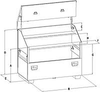 slant top dimensions