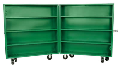 Greenlee rolling tool cabinet, metal utility storage cabinet