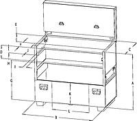 flat top box dimensions