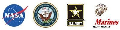 NASA, USA Navy, US Army, US Marines