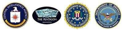 CIA, Pentagon, US Justice Department, US Defence Department