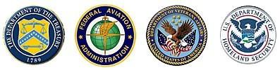 US Department of Treasury, FAA, Department of Veterans Affairs, Homeland Security