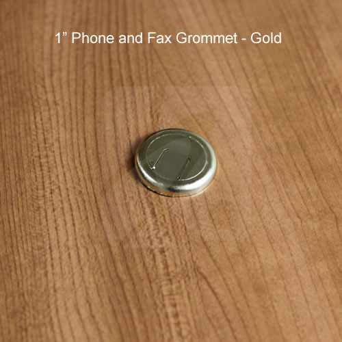 two piece fax and phone wire grommets in gray - icon