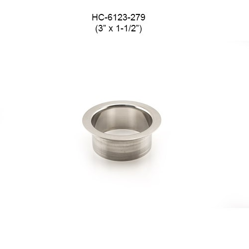 Round Stainless Steel Grommet, 3in by 1-1/2in