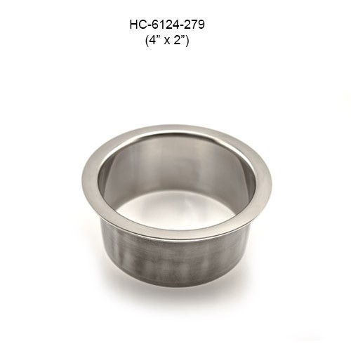 Round Stainless Steel Grommet, 4in by 2in