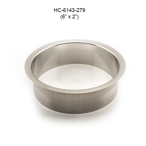 Round Stainless Steel Grommet, 6in by 2in