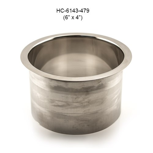 Round Stainless Steel Grommet, 6in by 4in