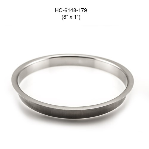 Round Stainless Steel Grommet, 8in by 1in