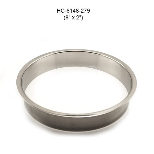 Round Stainless Steel Grommet, 8in by 2in