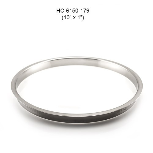 Round Stainless Steel Grommet, 10in by 1in