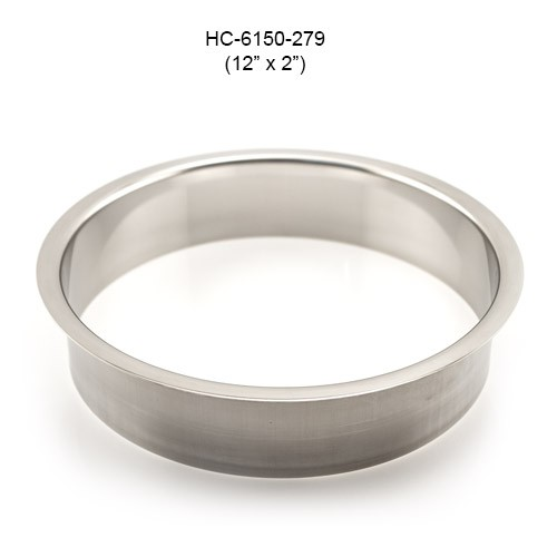 Round Stainless Steel Grommet, 10in by 2in