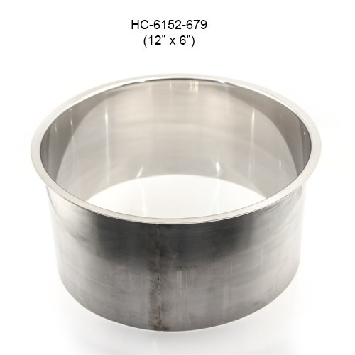 Round Stainless Steel Grommet, 12in by 6in