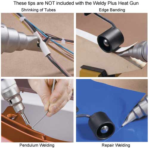 various applications using tips for weldy plus heat gun - icon