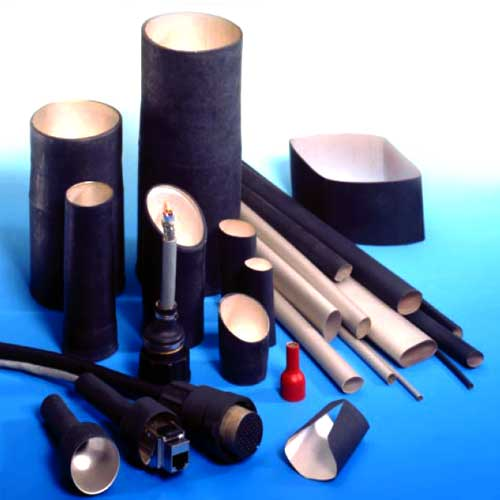 black and silver conductive heat shrink tubing in various sizes - icon