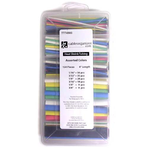 assorted color heat shrink tubing kit in closed case - icon