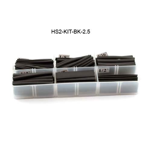 black heat shrink tubing kit in open case - icon