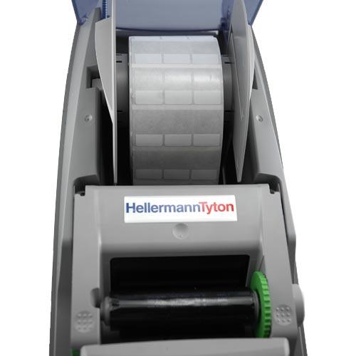view of labels inside hellermanntyton ttm430 desktop thermal transfer printer - icon