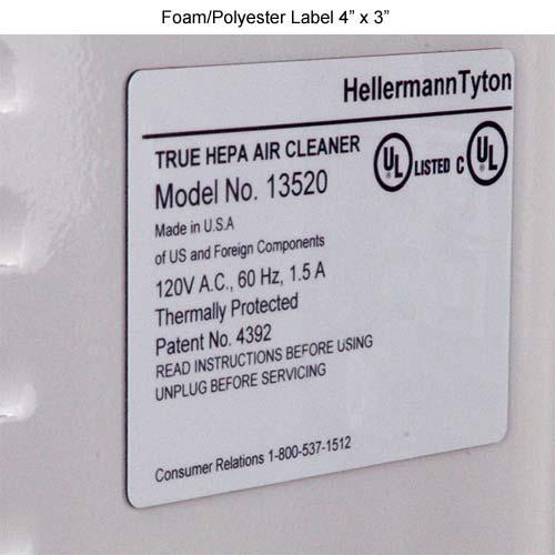 sample of white foam label 4x3 - icon