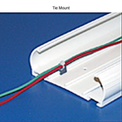 close up of hellermanntyton infostream multi channel raceway tie mount - icon