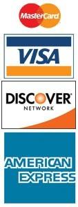 Mastercard, Visa, Discover/Novus, American Express