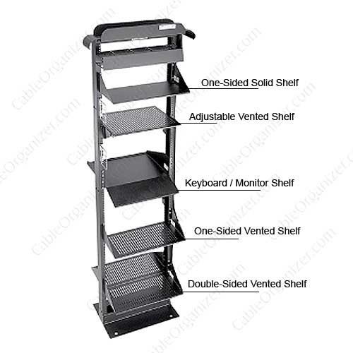 Hoffman Open Frame Rack Shelves detailed