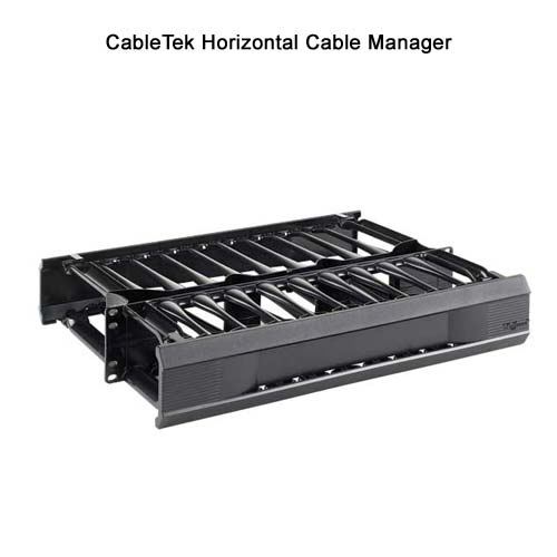 hoffman cabletek open frame rack horizontal cable manager - icon