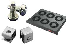 Hoffman cage nuts, screws, cable management, cooling equipment