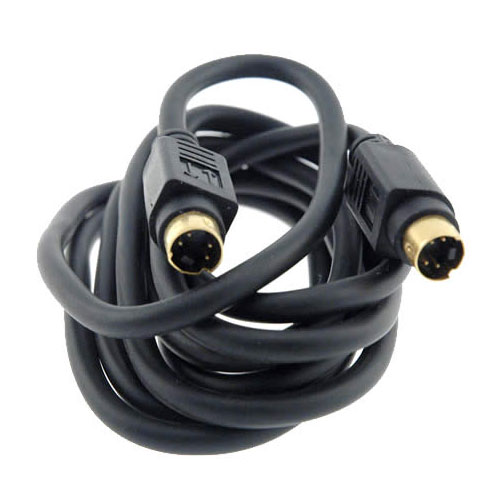 close up of s video cable connectors - icon